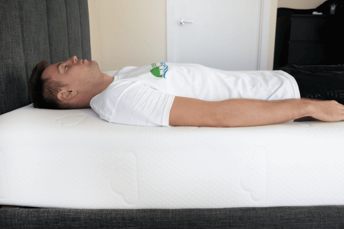 position of your head and body while sleeping on Puffy mattress