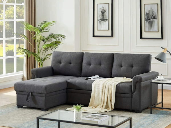 Lucca Reversible Sleeper Sofa by Lilola Home